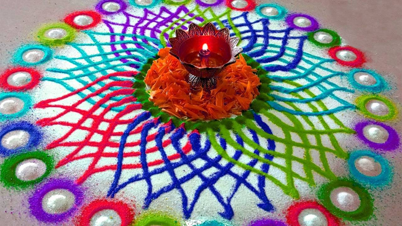 Diwali Rangoli HD Wallpaper