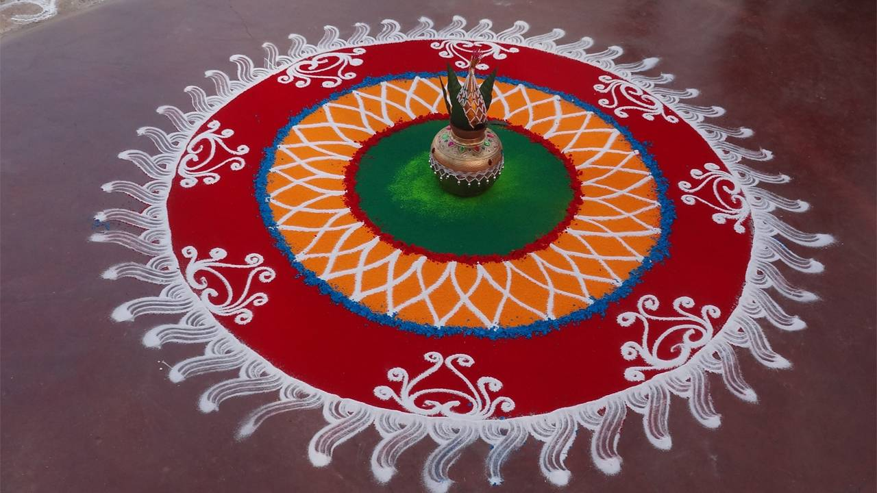 Diwali Rangoli Photo Download