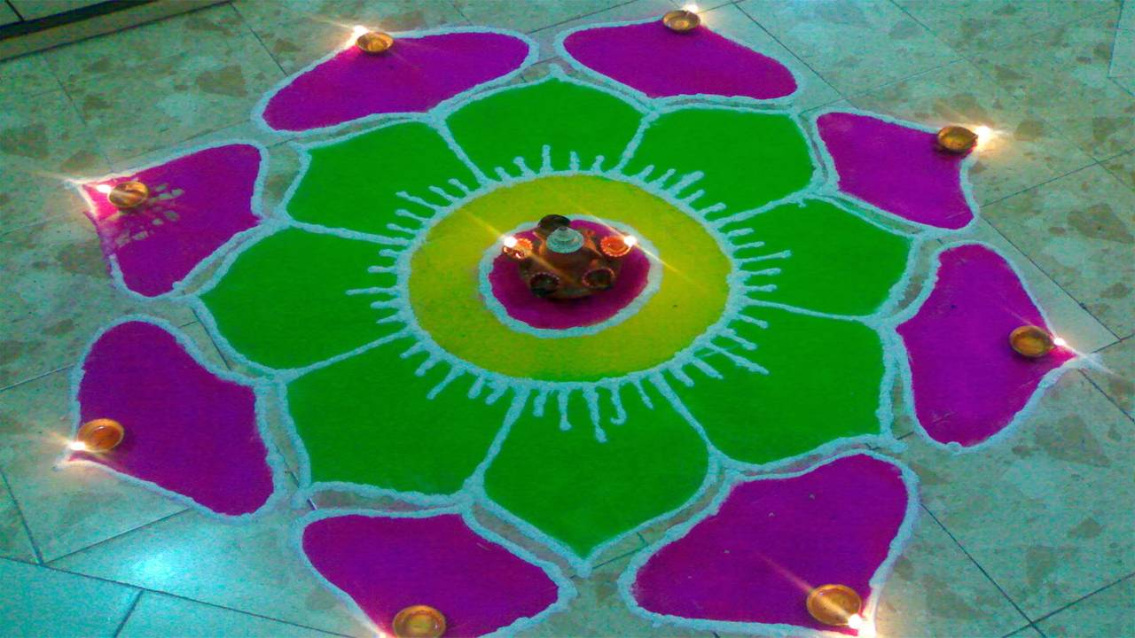 Diwali Rangoli Picture Download