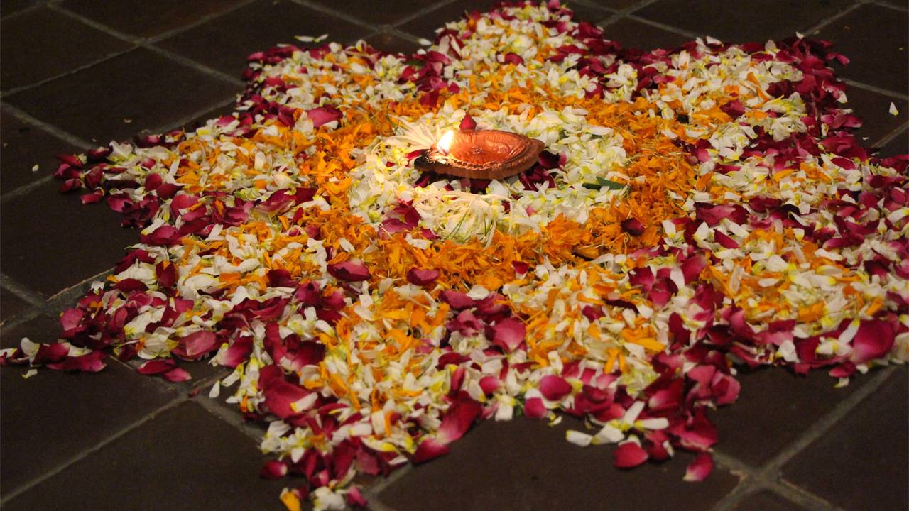 Happy Diwali Rangoli Full hd Wallpaper