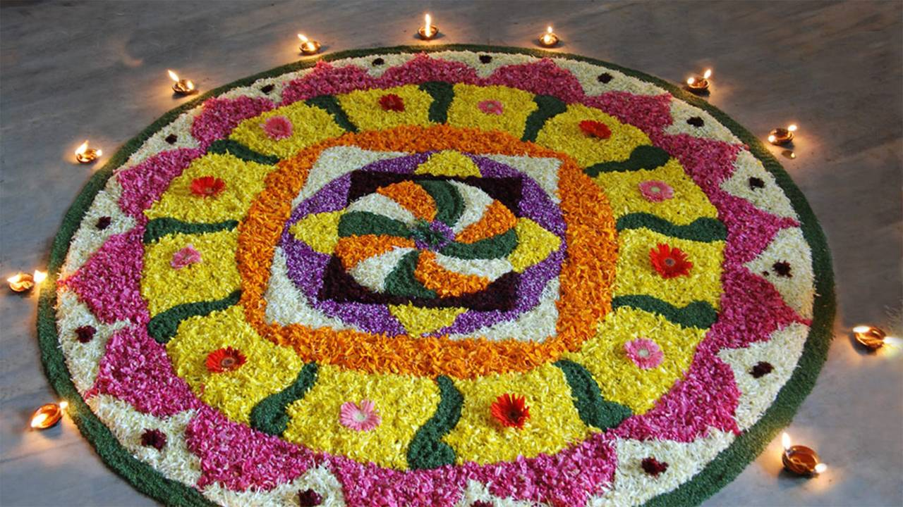 Happy Diwali Rangoli HD Photo