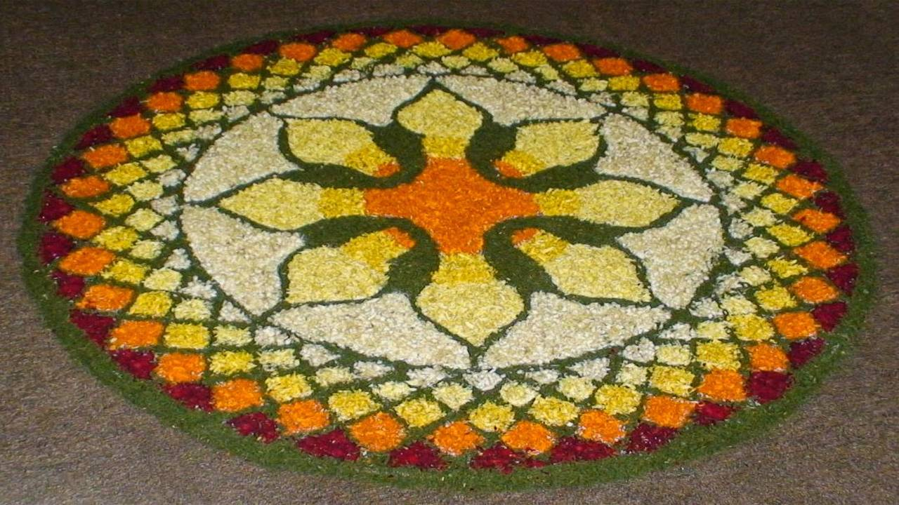 Happy Diwali Rangoli HD Wallpaper