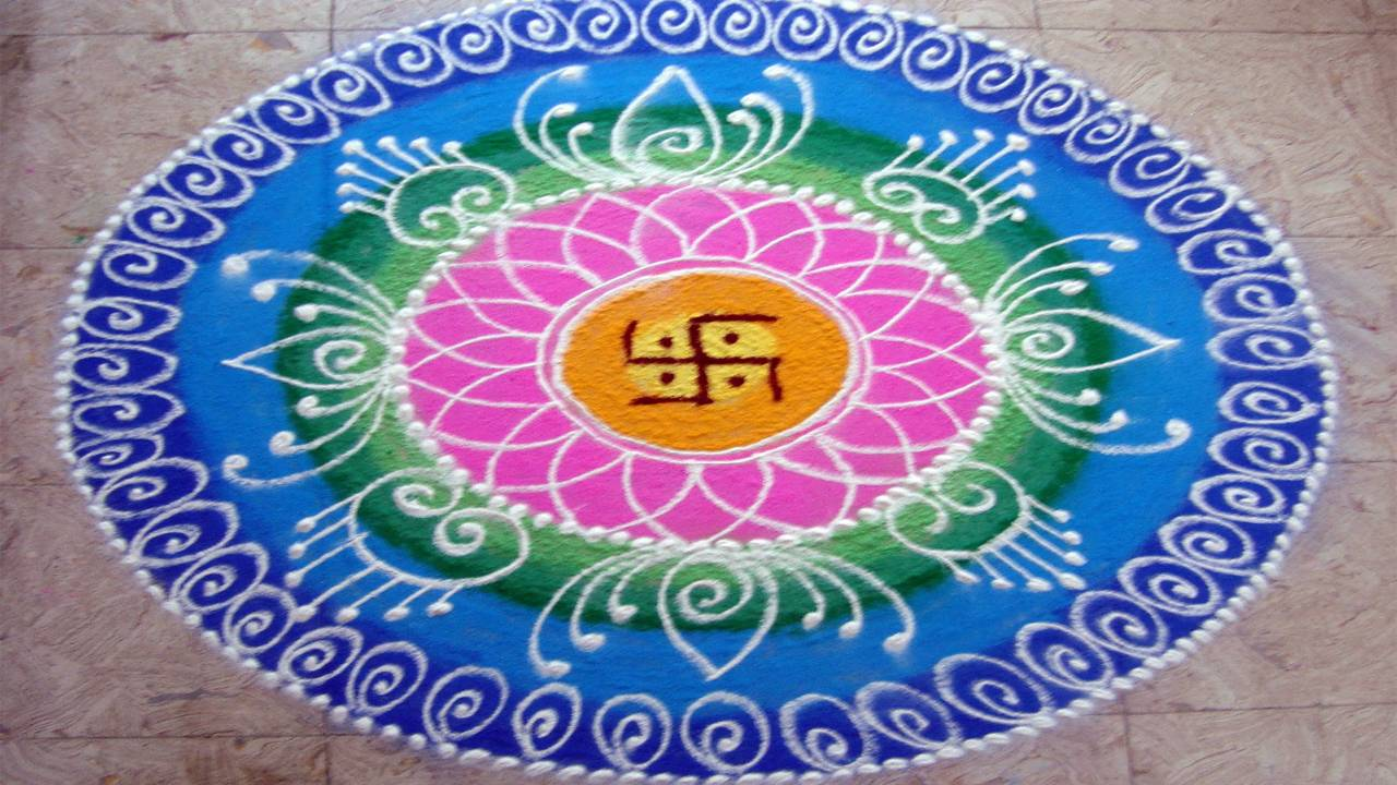 Happy Diwali Rangoli Photo HD