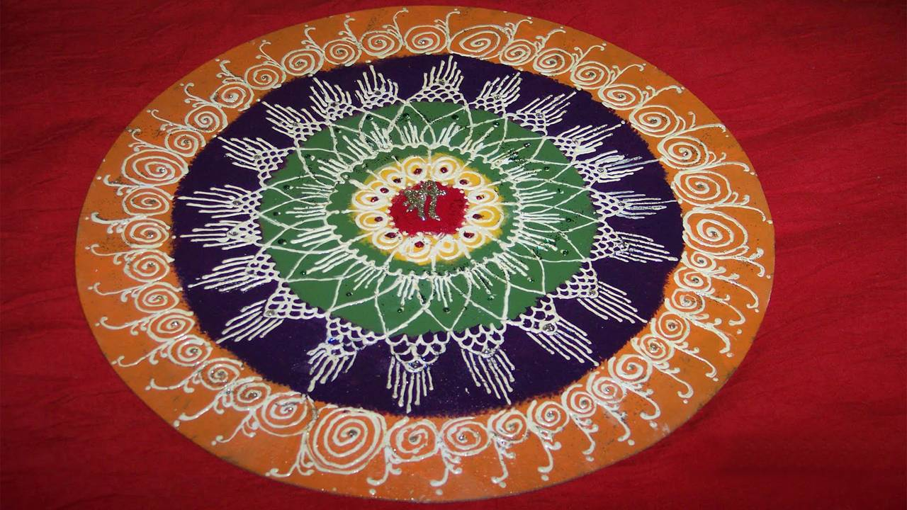 Happy Diwali Rangoli Picture