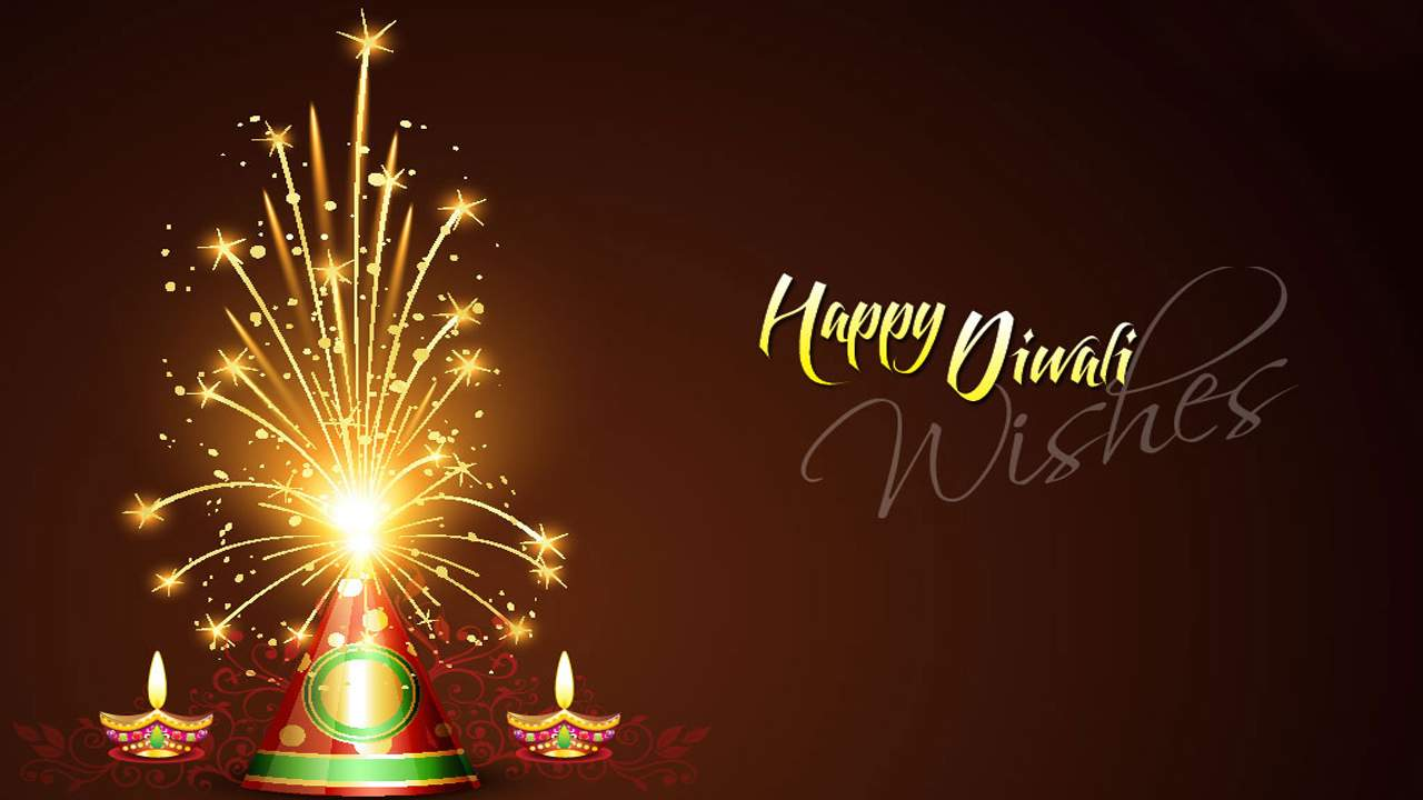 Happy Diwali Wallpaper With Crackers