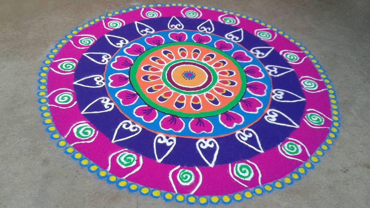 Picture of Rangoli Design In Diwali