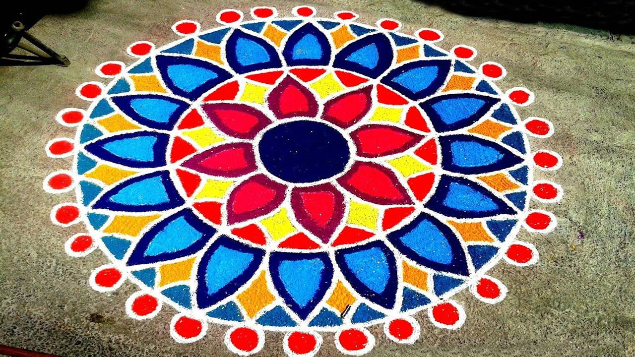 Picture of Rangoli For Diwali