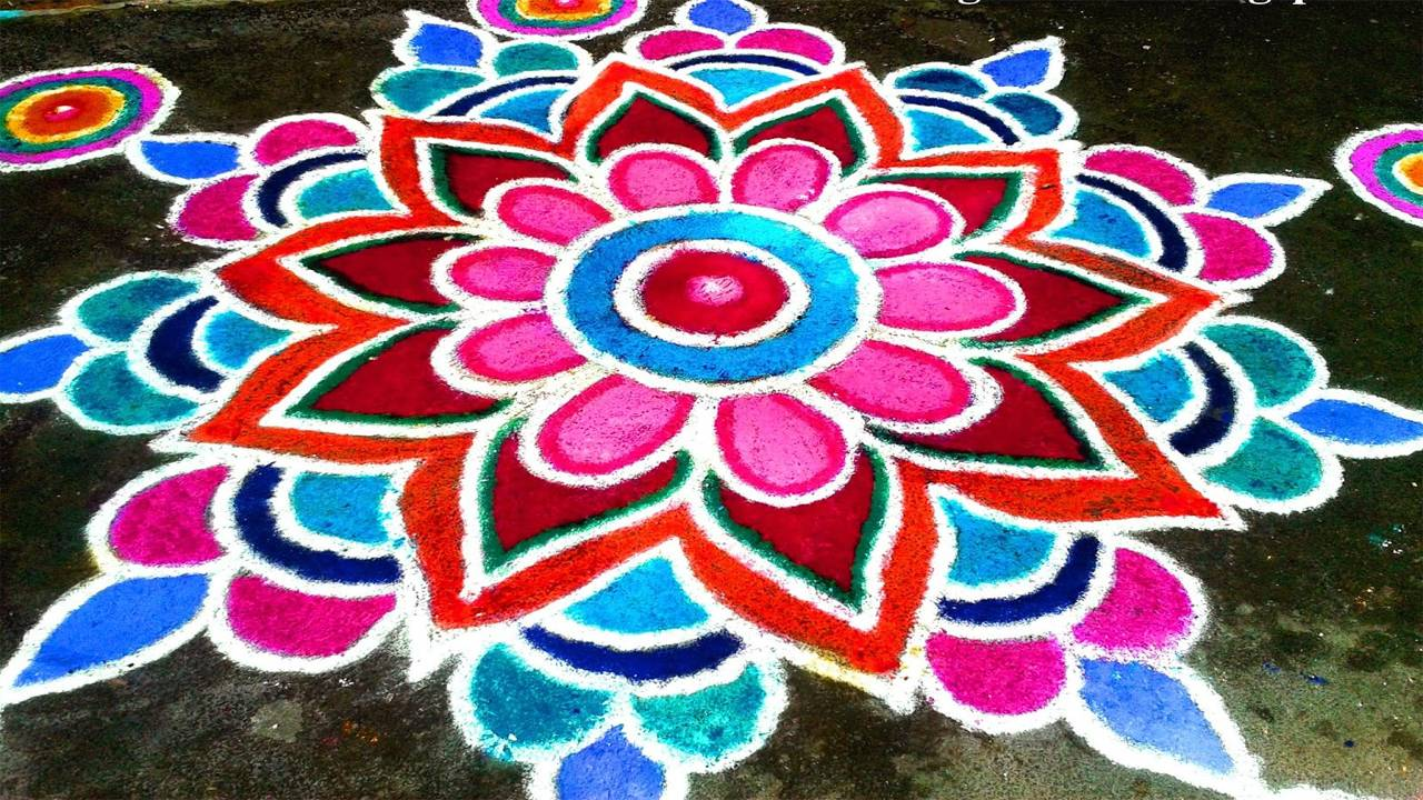 Wallpaper of Diwali Rangoli