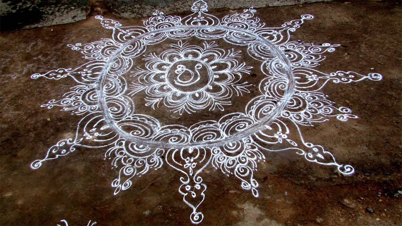 happy Diwali Wallpaper Rangoli