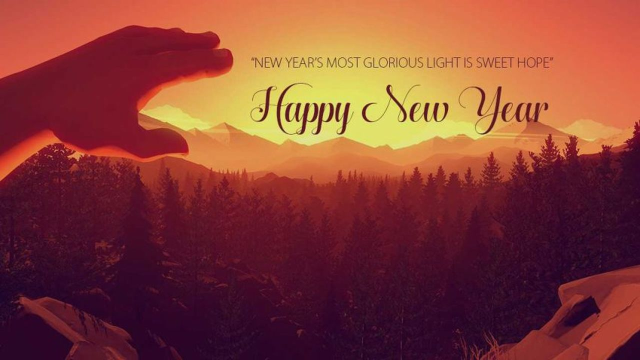 Happy New Year Card Photo