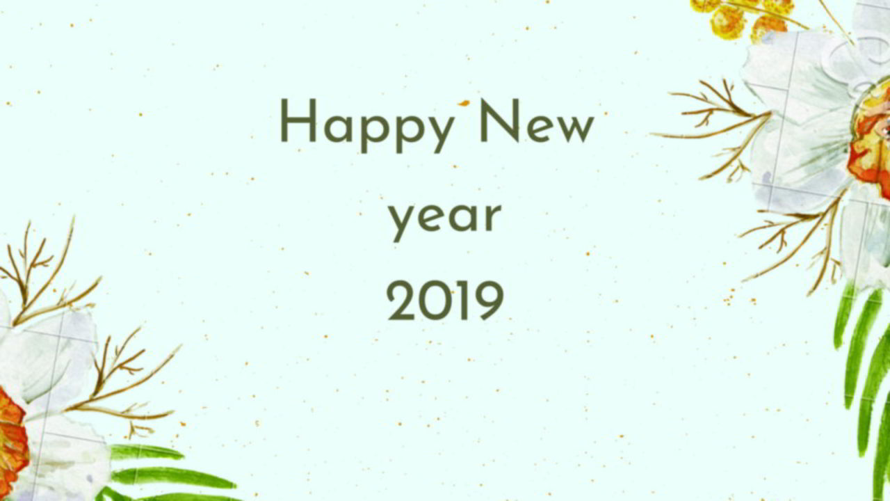 New Year 2019 Greetings Pictures